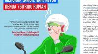 Larangan merokok saat naik motor Peraturan Menteri Perhubungan Nomor 12 Tahun 2019 tentang Perlindungan Keselamatan Pengguna Sepeda Motor. (Kompas.com)