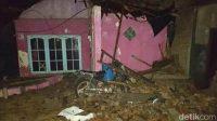 Salah satu rumah yang rusak akibat puting beliung di Jepara. Foto: Dok BPBD Jepara