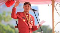 Gubernur Ganjar Pranowo berpidato dalam upacara HUT Jateng di Lapangan Simpanglima Semarang. (Foto:Dokumentasi Humas Pemprov Jateng)