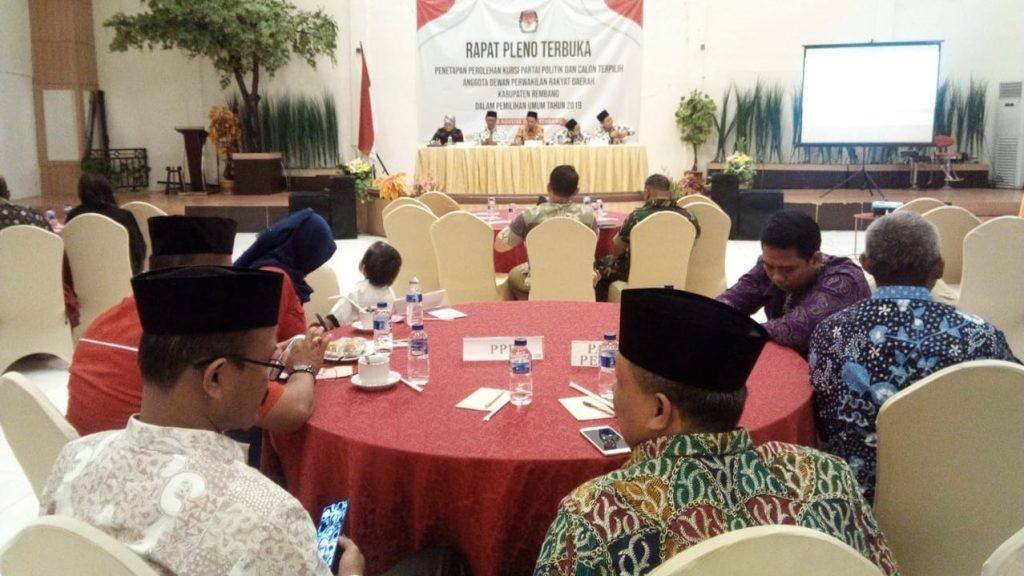 Komisi Pemilihan Umum (KPU) Kabupaten Rembang akhirnya menetapkan jumlah kursi dan Calon Anggota DPRD Terpilih untuk periode 2019-2024, di Auditorium Hotel Gajah Mada Rembang pada Sabtu (10/8/2019) pukul 10.30 waktu setempat. (Foto: IST)